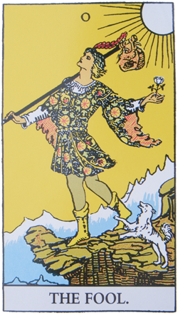 The White Rose in the Fool card of the Tarot